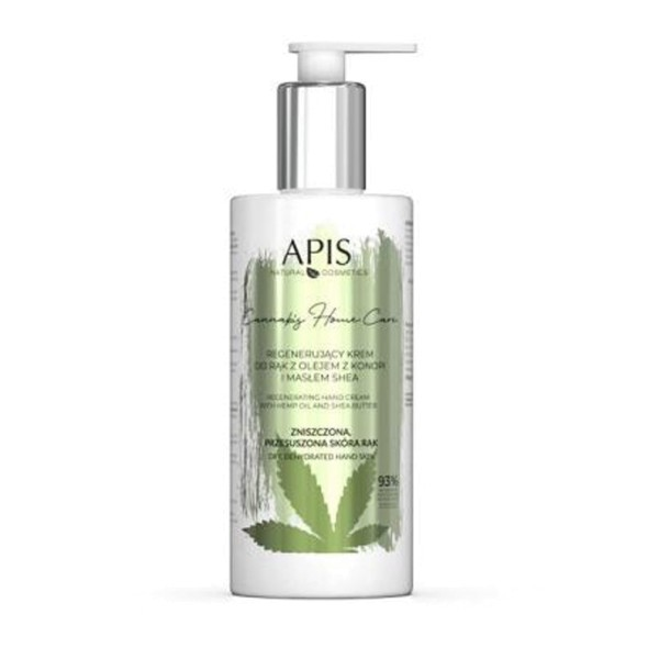 JUSTNAILS APIS Professional CBD Hand Care Cream mit Hemp öl und Shea Butter - 300ml