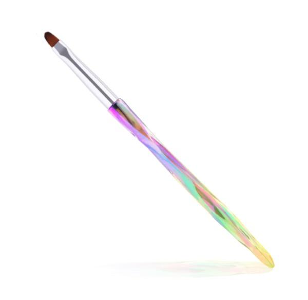 JUSTNAILS Premium Pinsel Katzenzunnge Gr.6 Farbverlauf Diamond
