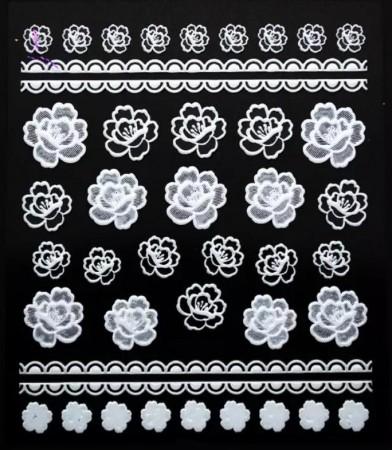 Rosen 3D Sticker white