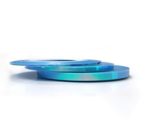 JUSTNAILS Irisierende Stripes Hellblau Set
