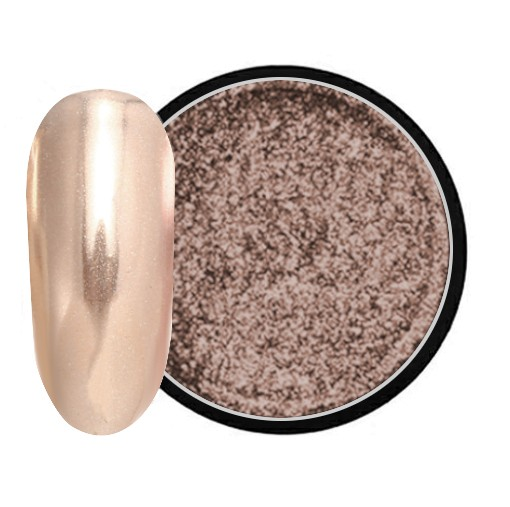 JUSTNAILS Mirror-Glow Nagel Pigment - Champagner