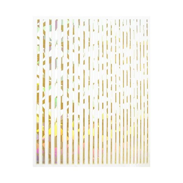 JUSTNAILS Flexible Stripes Set holo gold