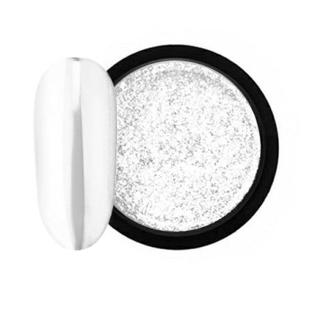JUSTNAILS Mirror-Glow Nagel Pigment - White