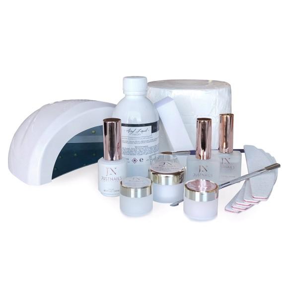 JUSTNAILS Premium Acryl Starter-Set + Lampe